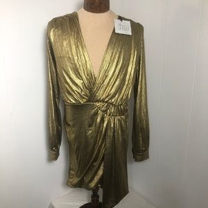 Womens Gold Dress. NEW. Size medium  New with Tags